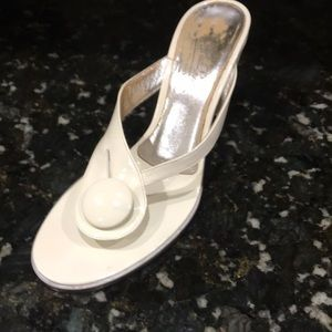 Emilio Pucci Patent White Heel